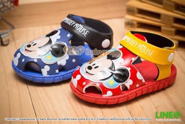 รองเท้ารัดส้นเด็ก Mickey Mouse