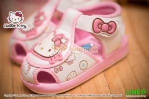 รองเท้าหัดเดินรัดส้น Hello Kitty