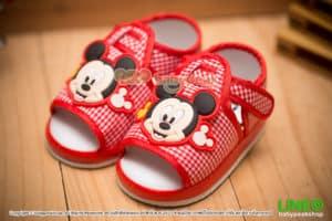 รองเท้าหัดเดินรัดส้น Mickey Mouse