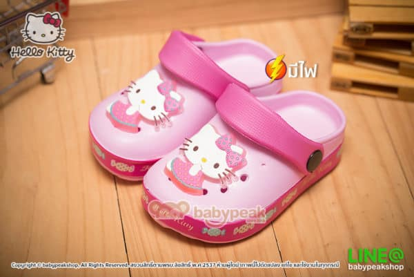 รองเท้าหัวโตมีไฟ Hello Kitty