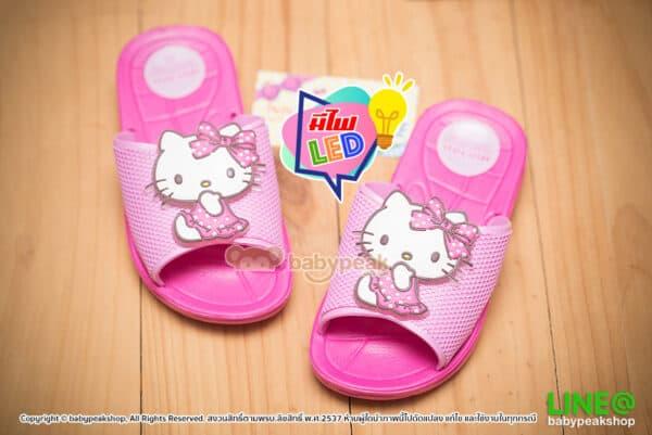 รองเท้าแตะมีไฟ Hello Kitty