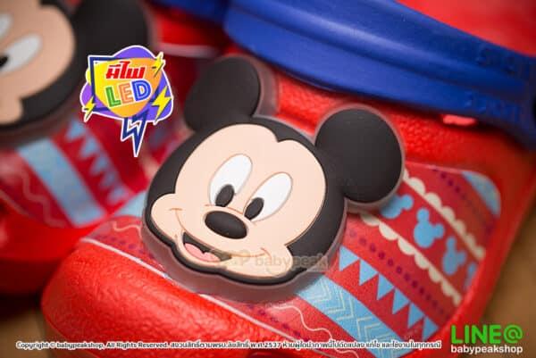 รองเท้าหัวโตรัดส้นมีไฟ Mickey Mouse
