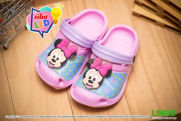 รองเท้าหัวโตรัดส้นมีไฟ Minnie Mouse