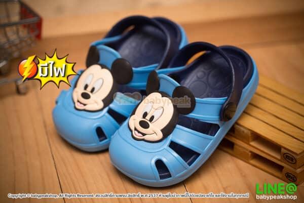 รองเท้ามีไฟ หัวโตรัดส้น Mickey Mouse