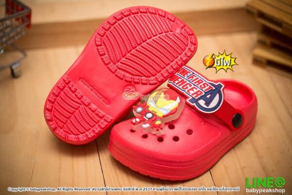 รองเท้าหัวโตมีไฟ Avengers