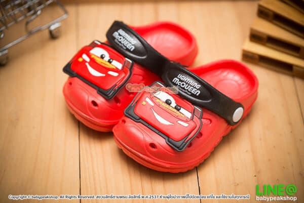 รองเท้าหัวโตรัดส้น Cars