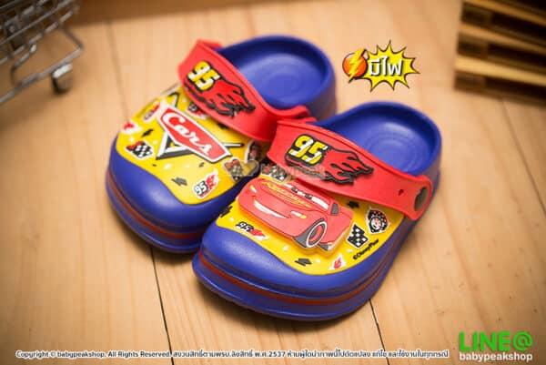 รองเท้าหัวโต Cars มีไฟ